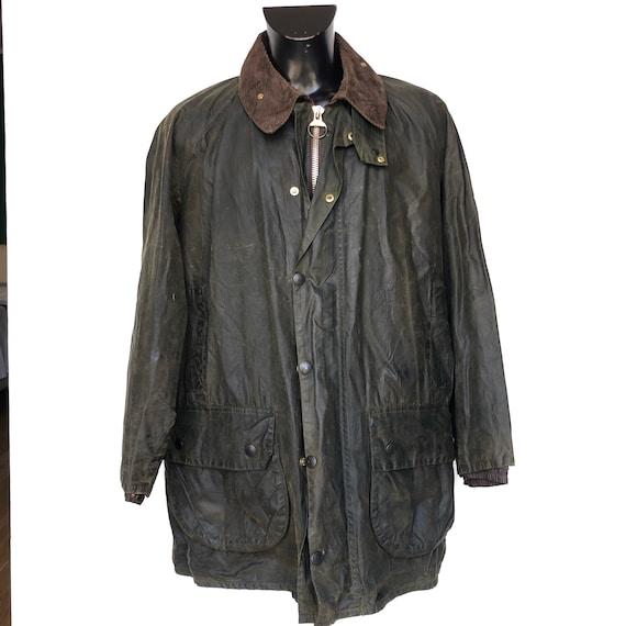 Men's barbour jacket gamefair vintage waxed c46/11