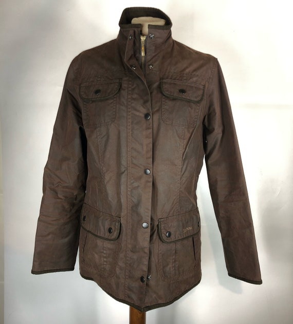 Barbour Utility Wax jacket Brown UK14 Size 50 Brow