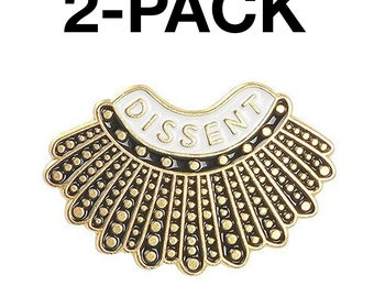 I Dissent  Collar  Ruth Bader Ginsburg  RBG   1.25 Pinback Button  Badge  Choose 1 or 3