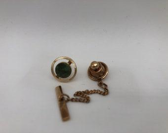 Vintage Lamode Textured Engraveable Teardrop Pendant Necklace Item w#1697