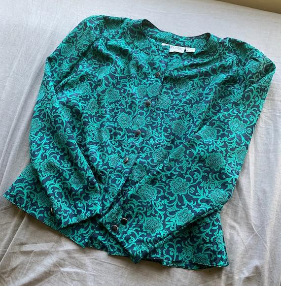 Andrea Gayle Vintage Blouse Plus Size