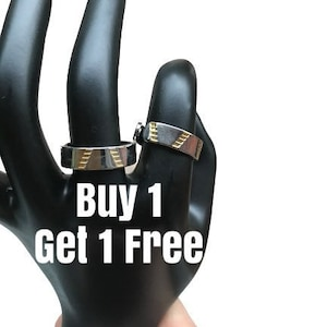 Unisex Design for Ladies or Men use for Energy Grounding Balance and Arthritis Healing Buy 1 Get 1 Free Gold Ring with Silver Accents