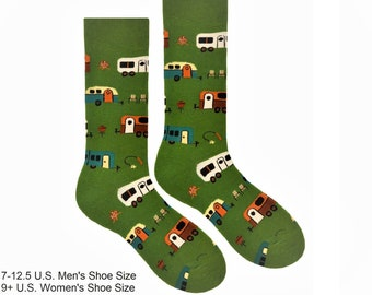 Camping Socks Mens Black Keep Calm And Carry On Camping Socks Valentines Day Present Birthday Christmas