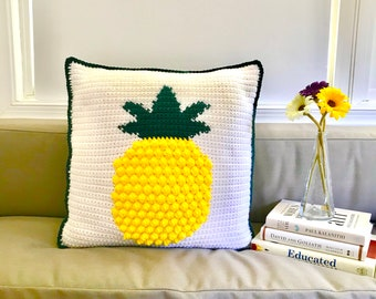 Pineapple Pillow Cover Crochet Pattern, Crochet Pillow Cover, Intarsia Crochet, Home Decor