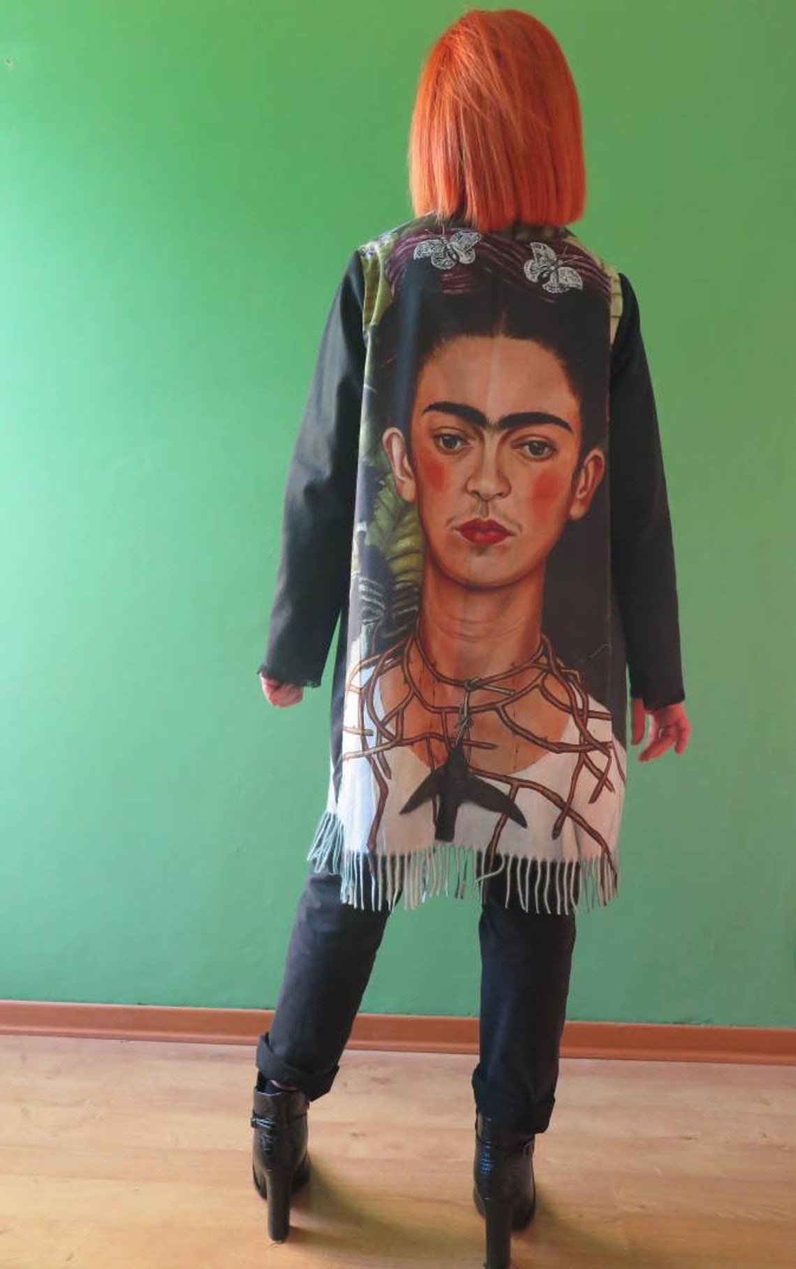 Frida Kahlo Coat With Very Soft Fringes