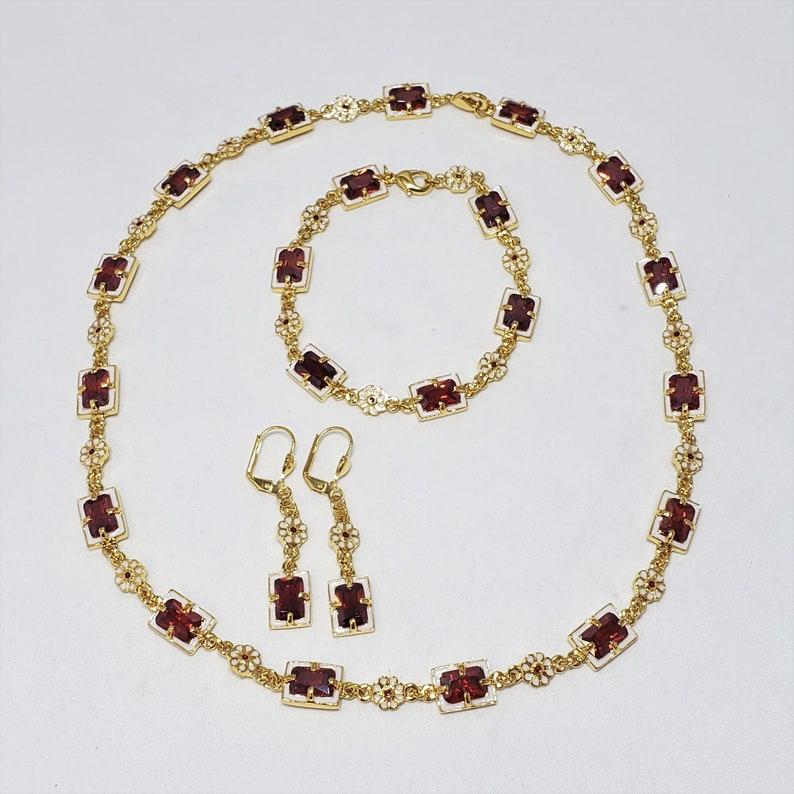 Classical Elizabethan Jewelry Set  Necklace Bracelet and image 0