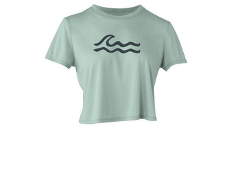 Wave Women's Flowy Cropped T Shirt – Wave Ripples