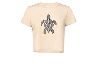 Turtle Women's Flowy Cropped T Shirt – Turtle