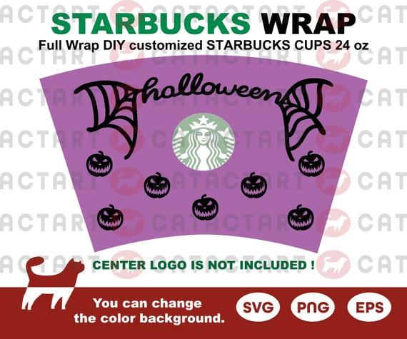 Halloween Full Wrap Starbucks Cups Svg 24 Oz Diy Venti Cold Etsy