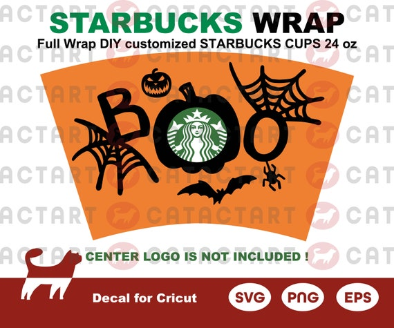 Halloween Clipart Full Wrap Starbucks Cups Svg Venti Cold Cup Etsy