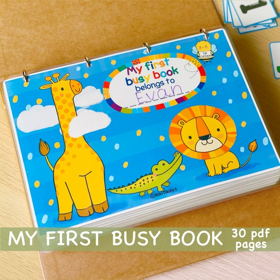 Personalized Toddler Busy Book Printable Preschool Activities