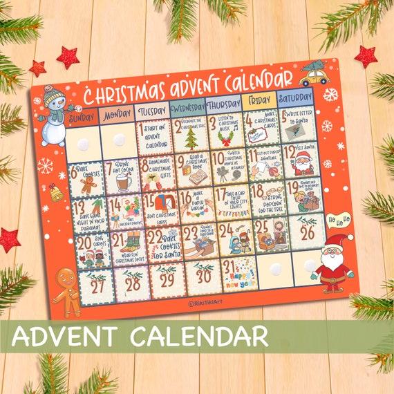 Printable Advent Calendar Numbers DIY Christmas Countdown