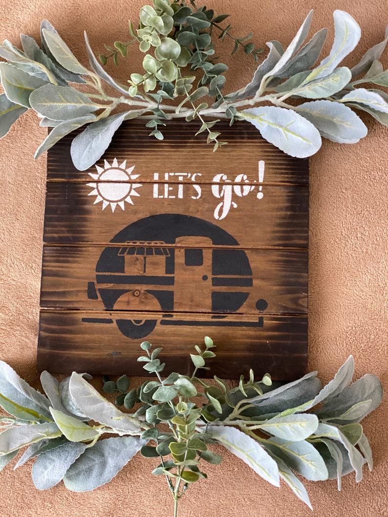Lets Go Wood Sign