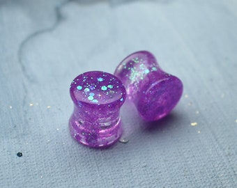 1pc  pair ear tunnel plug with dried flower peony petals and gold flakes  double saddle plug  teardrop  heart shape