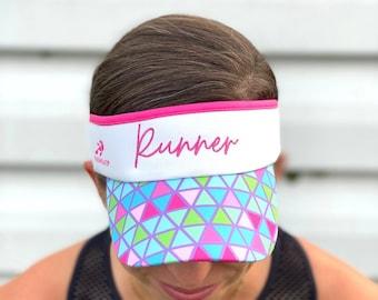"Pink ""Runner"" Headsweats Visor"