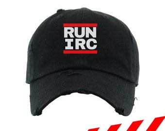 RUN IRC Distressed Hat
