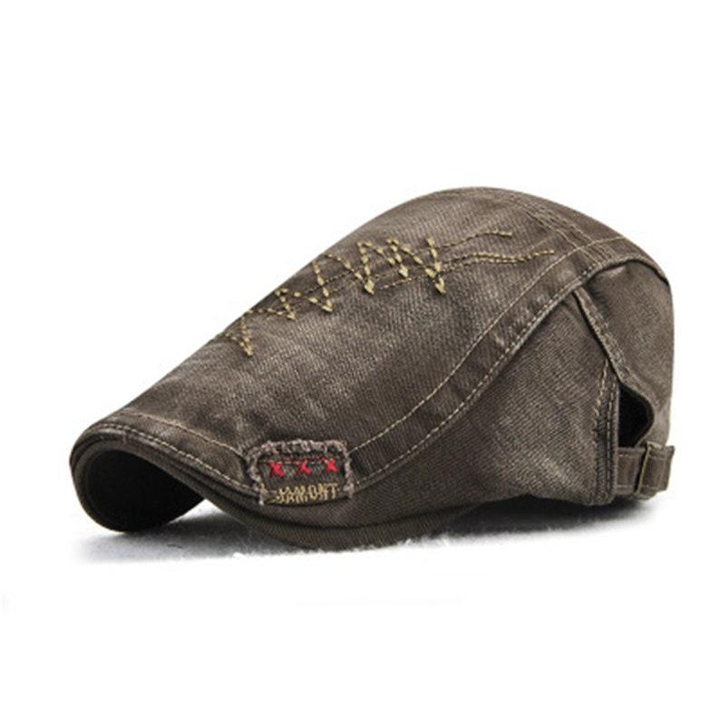 Spring Vintage Slouchy Flat Hat For Men,Denim Newsboy Hat GatsbyHat,Outdoor Bicycle Flat Cap,Irish Flat Cap,Baker Boy Hat Peaky Blinders