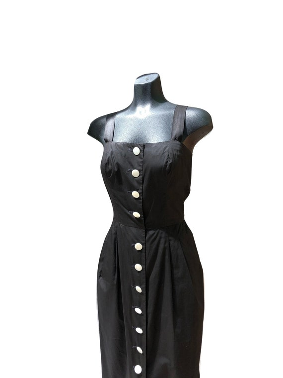 Vintage 1950s Button Up Wiggle Dress