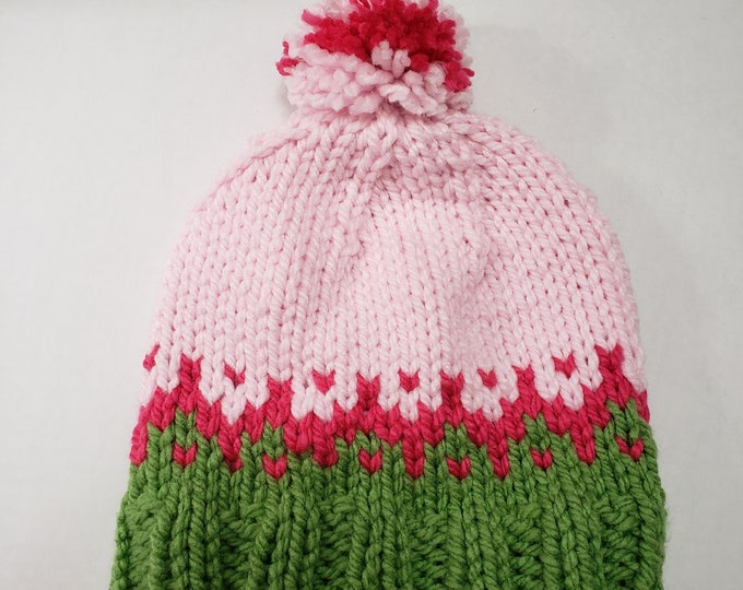 Featured listing image: AKA sorority two toned beanie