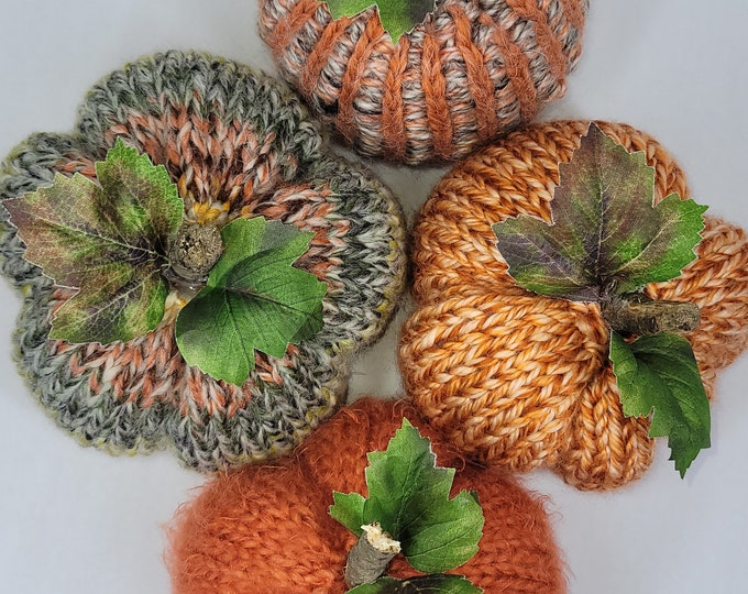 Featured listing image: Knitted Pumpkins