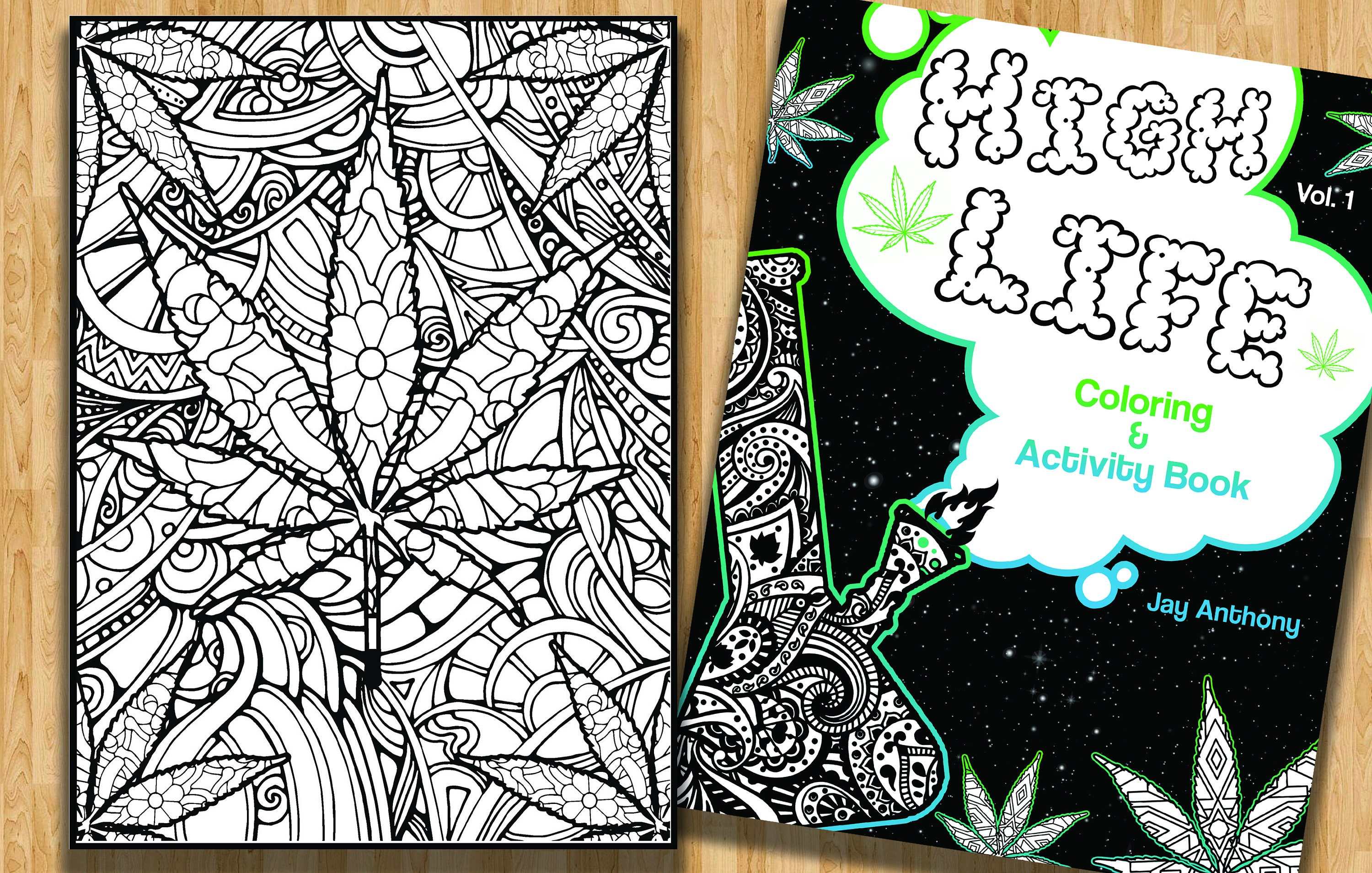 High Life Coloring Page Coloring Books For Adults Stoner Etsy