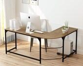 L Shaped Desk Corner Computer Desks for Home Office 66 Inch Large PC Table, Secretary Desk, Mid Century Desk, Gaming Desk, Office Desk