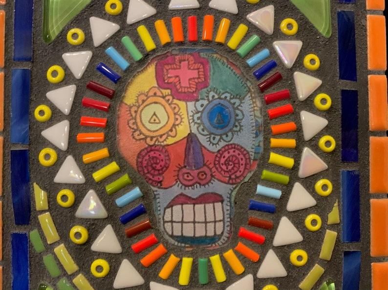 Mixed media mosaic \u201cDos Muertos\u201d