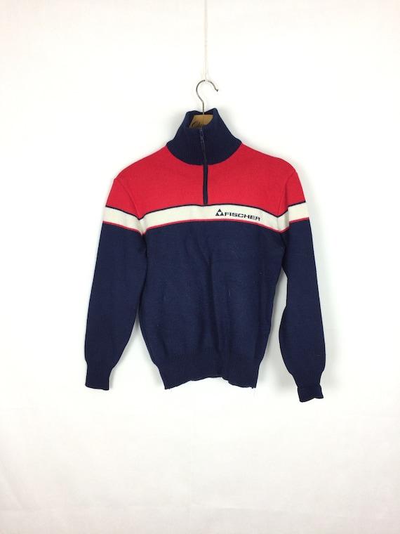 vintage  FISCHER  zipped ski sweatshirt sweater  8