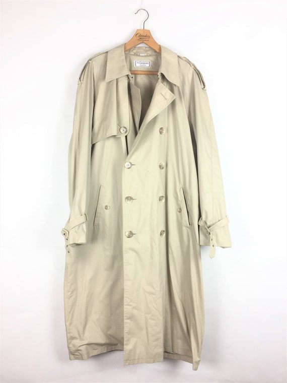 Yves Saint Laurent vintage beige trench coat 80s 9