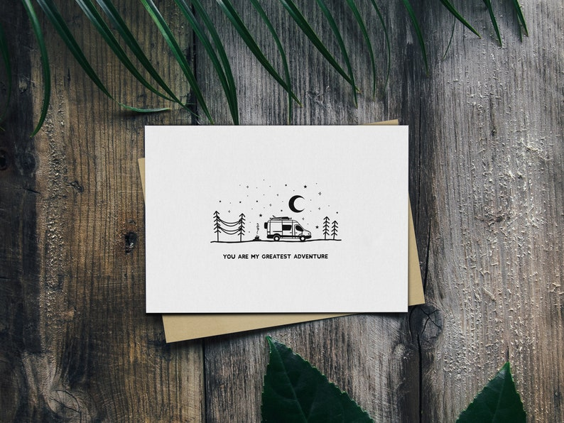Personalised Van Life Card You Are My Greatest Adventure Card Custom Travel Couple Goals Card Adventure Quote Anniversary Card
