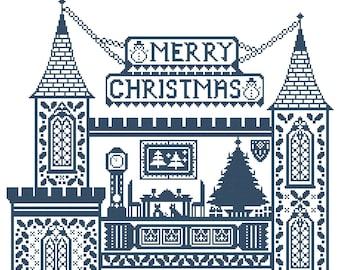 Christmas Castle PDF Chart Download by Galliana Cross Stitch Designs