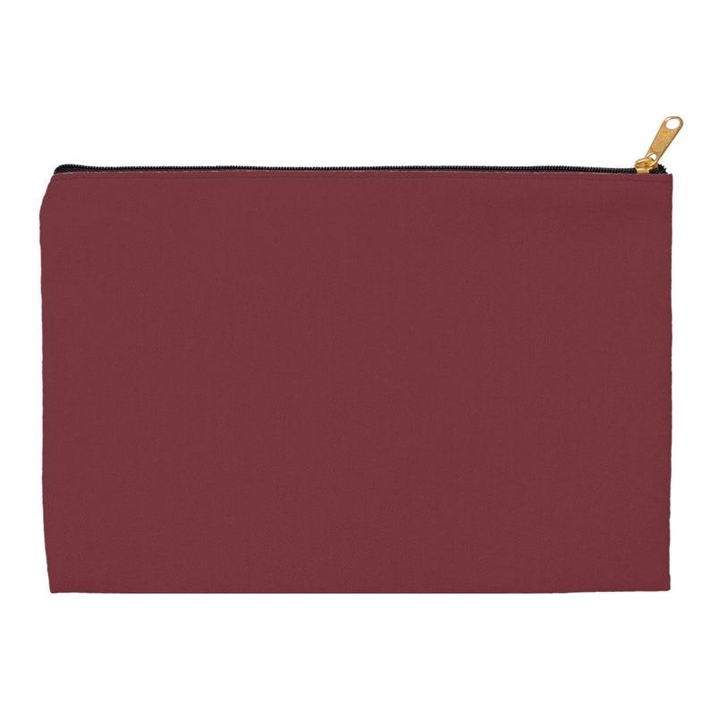 Wine Red Classic Makeup Bag
