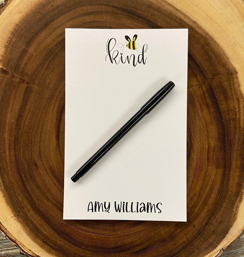 Gift Bee Kind Paper Coloful Personalized Notepad Monogram Family Gift Personalized Stationery Teacher Note pad Custom Notepad