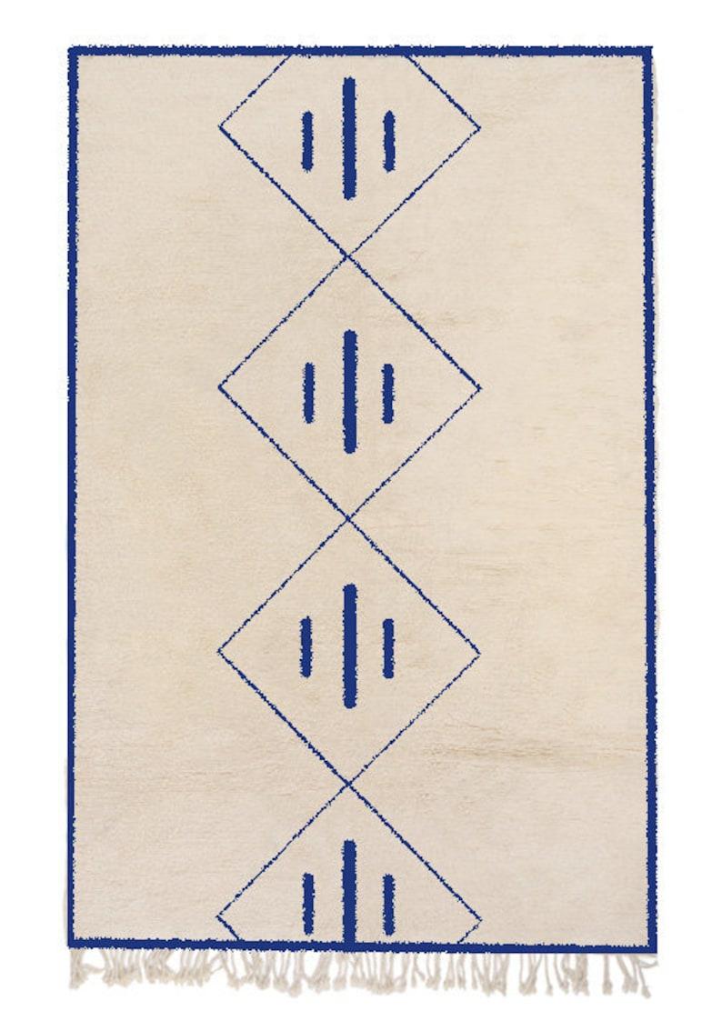 Trellis Custom Rug Beni Ourain 6 colors Customizable Beni Mrirt Moroccan Rug 15 sizes Handmade Moroccan Rug
