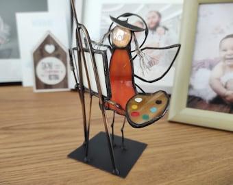 Thank You Gift for NurseMedicParamedic Guardian Angel of Nurses Handmade Nurse Gift Stained glass angel Nurse Appreciation Gift