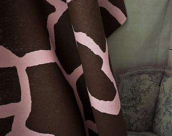 Pink Giraffe 5 yds home decor fabric