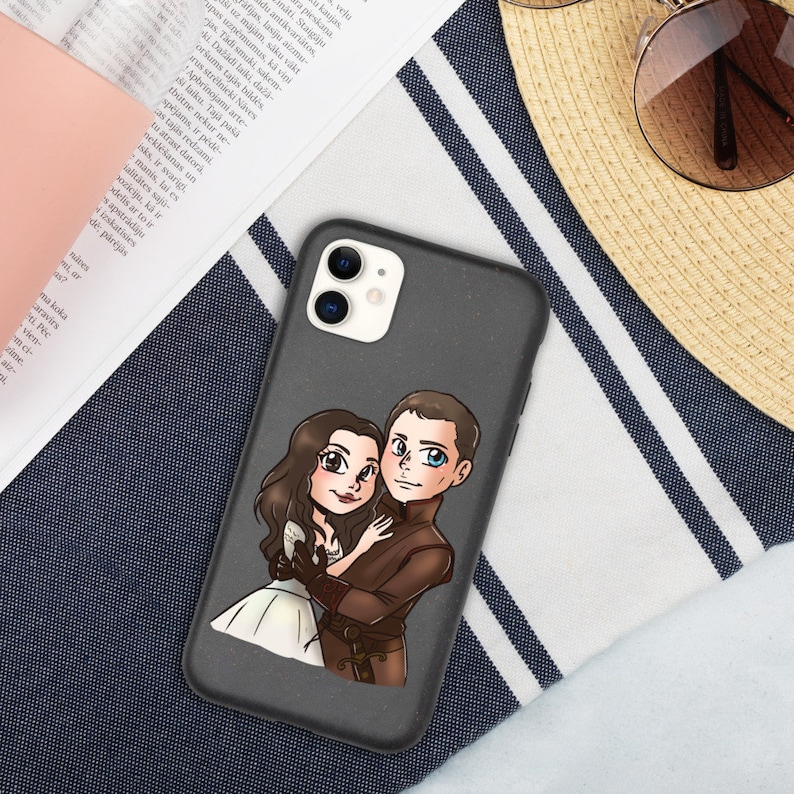 Once upon a time Biodegradable phone case|OUAT Eco phone case|Prince Charming and Snow White phone case|Chibi drawing phone case