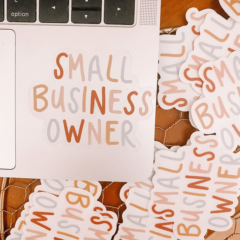CLEAR Small Business Owner Sticker image 0