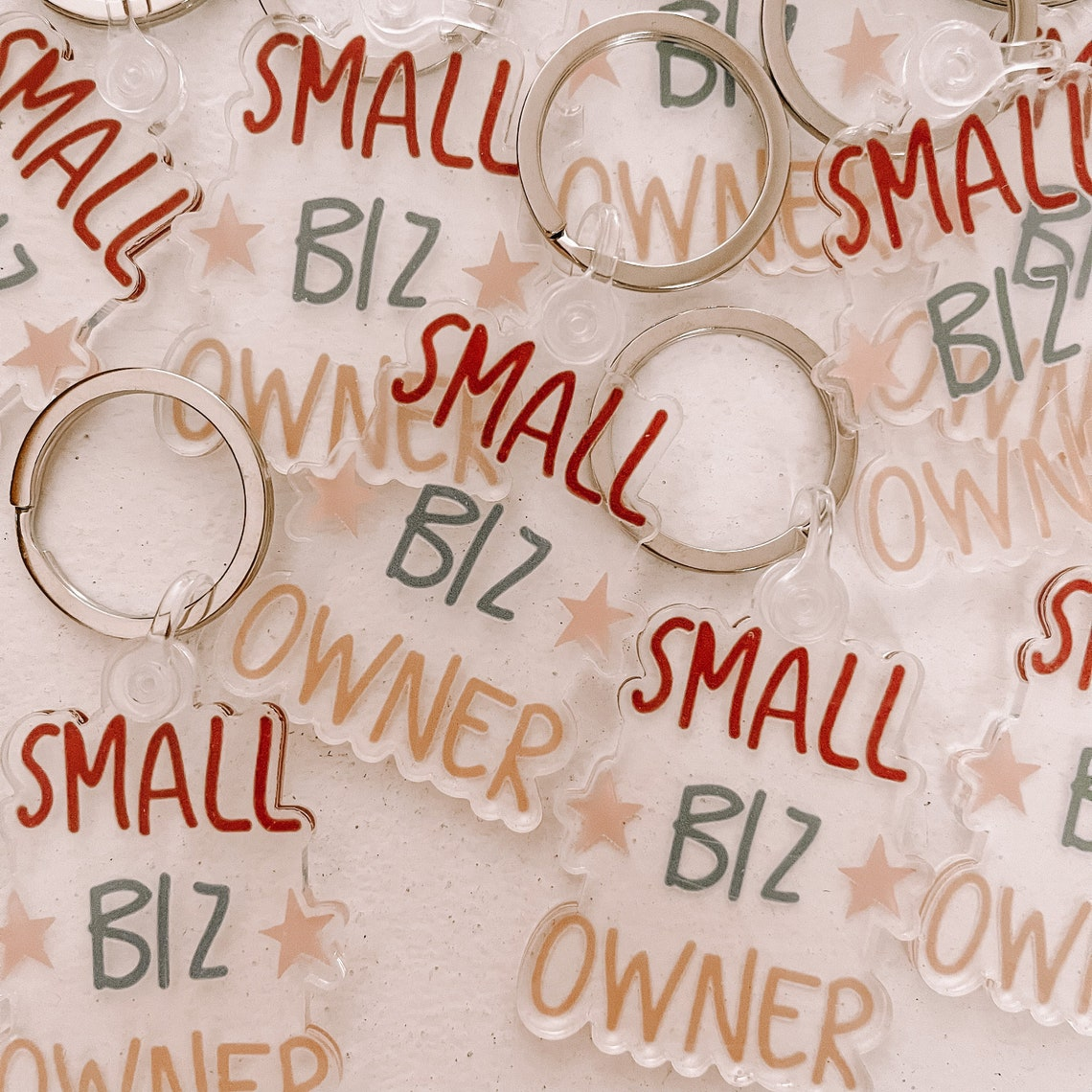Clear Small Biz Owner Keychain image 0