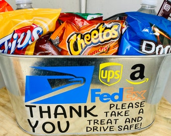 Delivery Driver Thank You Treat Bucket