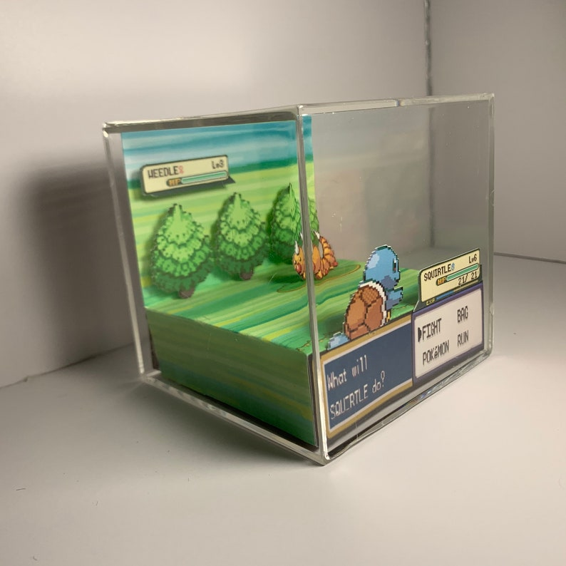 Pokemon Squirtle vs Weedle Cube