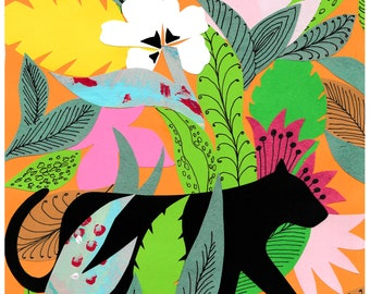 Jungle Panther Collage