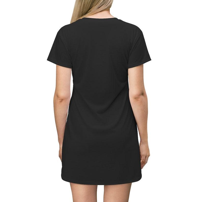 Casual T Shirt Dress Swimsuit Cover-up Oversize T shirt Designer Dress PROPHETIC JOHNSON SULEMAN Black Mini Dress Gift For Her