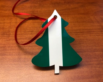 Nigeria Nigerian Christmas Decoration. Tree shaped decoration hanging ornament Bright and colourful.