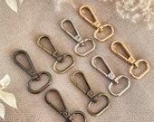 10 pieces square keychain carabiner hook clip closure ring handbag closure DIY