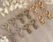 10 Piece Carabiner Heart Shape Keychain Clip Ring Closure Hook DIY Pocket Closure