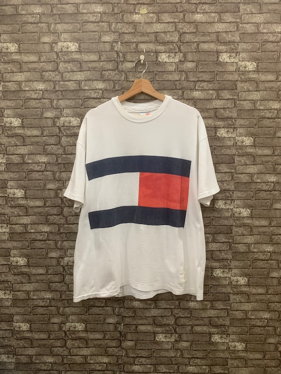 Tommy Hilfiger Short Sleeves Shirt White Big Flag