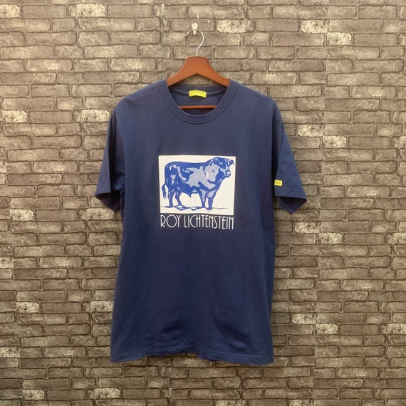 Roy Lichtenstein T Shirt Cow Triptych Shirt Blue B