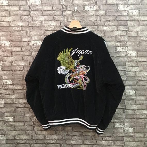 90's Sukajan Jacket Japan Eagle Vs Dragon Embroide