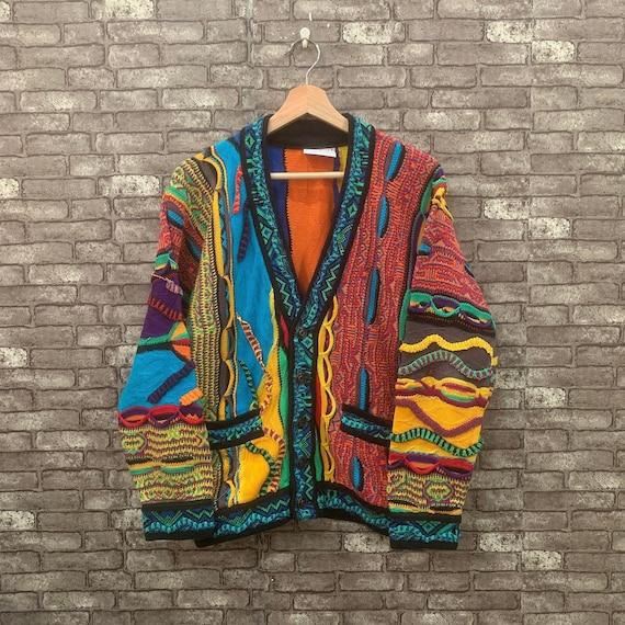 Coogi 3D Australia Cardigan Knit Beautiful Multi-c